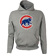Stitches Youth Chicago Cubs Grey Pullover Hoodie