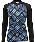 Sport Haley Women's Milly Long Sleeve Plaid Print Polo