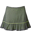 Slazenger Girls' Layered Perforated Ruffle Knit Skort
