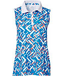 Slazenger Women's Luminescent Collection Fracture Printed Sleeveless Polo