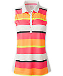 Slazenger Women's Impulse Collection Bold Stripe Sleeveless Polo