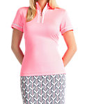 Tail Women's Mock Neck Mesh Inserts Polo