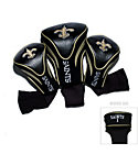 Team Golf New Orleans Saints NFL Contour Sock Headcovers - 3 Pack