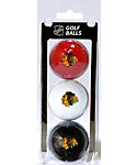 Team Golf Chicago Blackhawks Golf Balls - 3 Pack