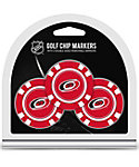 Team Golf Carolina Hurricanes Golf Chips - 3 Pack