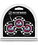 Team Golf Colorado Avalanche Golf Chips - 3 Pack