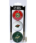 Team Golf NHL Minnesota Wild Golf Balls - 3 Pack