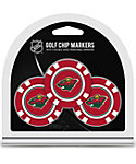 Team Golf Minnesota Wild Golf Chips - 3 Pack