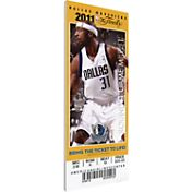 That's My Ticket Dallas Mavericks 2011 NBA Finals Game 3 Canvas Ticket