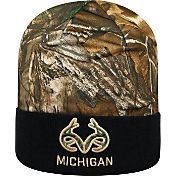 Top of the World Men's Michigan Wolverines Camo/Blue Realtree Cool Beanie