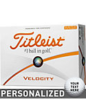 Titleist Velocity Double-Digit Play Number Personalized Golf Balls - 12 Pack