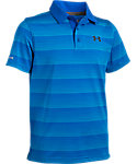 Under Armour Boys' coldblack Chip In Stripe Polo