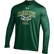 Under Armour Men's Colorado State Rams Green UA Tech Long Sleeve Shirt
