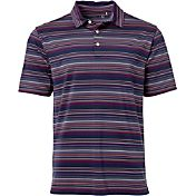 Walter Hagen Men's Sunset Fine Line Stripe Golf Polo