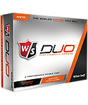 Wilson Staff DUO Orange Golf Balls - 12 Pack