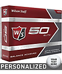 Wilson Staff Fifty Elite Personalized Golf Balls - 12 Pack