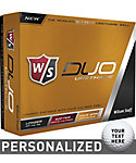 Wilson Staff DUO Urethane Personalized Golf Balls - 12 Pack