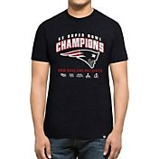 '47 Men's 5X Super Bowl LI Champions New England Patriots Multi-Champion Navy T-Shirt