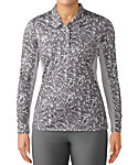 adidas Women's 3-Stripes Long Sleeve Printed UPF Polo