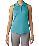 adidas Women's Microdot Racer Back Sleeveless Polo