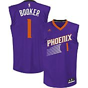 adidas Youth Phoenix Suns Devin Booker #1 Road Purple Replica Jersey