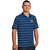 Antigua Men's Golden State Warriors Deluxe Royal Striped Performance Polo