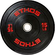 ETHOS 15 lb. Olympic Rubber Bumper Plate