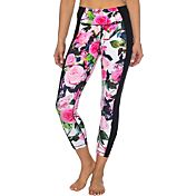Betsey Johnson Performance Women's Radiant Rose Banded Insert Capris Leggings