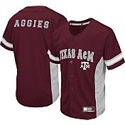 Colosseum Athletics Men's Texas AM Aggies Maroon Strike Zone Baseball Jersey
