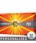 Callaway Superhot 70 Yellow Personalized Golf Balls - 15 Pack