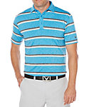 Callaway OptiSoft Heather Printed Stripe Polo
