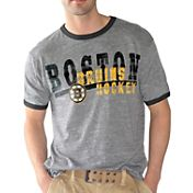 G-III Men's Boston Bruins Academy Grey T-Shirt