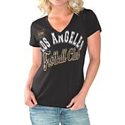 G-III For Her Women's Los Angeles FC Homefield Black Slub T-Shirt