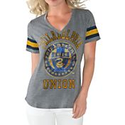 G-III For Her Women's Philadelphia Union Triple Play Grey T-Shirt