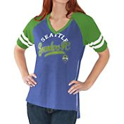 G-III For Her Women's Seattle Sounders Fastball Blue T-Shirt