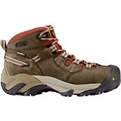 KEEN Women's Detroit Mid Waterproof Steel Toe Work Boots