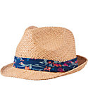 Lady Hagen Women's Calypso Collection Floral Print Straw Fedora
