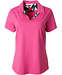 Lady Hagen Women's Paradise Found Collection Floral Faced Polo
