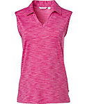 Lady Hagen Women's Essentials Space Dye Sleeveless Polo - Extended Sizes
