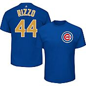 Majestic Youth Chicago Cubs World Series Champs Anthony Rizzo #44 Royal/Gold T-Shirt