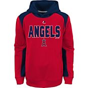 Majestic Youth Los Angeles Angels Therma Base Geo Fuse Red Hooded Fleece