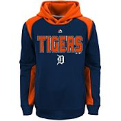 Majestic Youth Detroit Tigers Therma Base Geo Fuse Navy Hooded Fleece