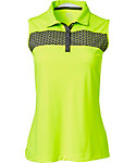 Slazenger Women's Triad Collection Perforated Chest Sleeveless Polo