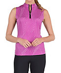 Tail Women's Blaze Printed Mini Zip Sleeveless Top