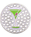 Bella Women's Appletini Crystal Hat Clip Ball Marker