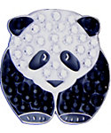 Bella Women's Panda Crystal Hat Clip Ball Marker