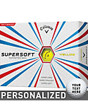 Callaway SuperSoft Yellow Personalized Golf Balls - 12 Pack