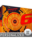 Bridgestone e6 Straight Flight Orange Personalized Golf Balls - 12 Pack