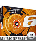 Bridgestone e6 Straight Flight Personalized Golf Balls - 12 Pack
