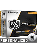 Wilson Staff FG Tour Personalized Golf Balls - 12 Pack